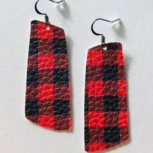 Buffalo Faux Leather Earrings